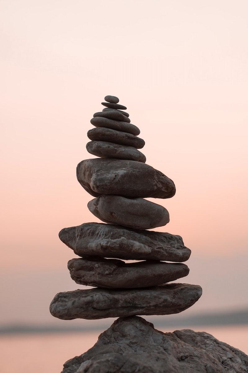 meditative rock art