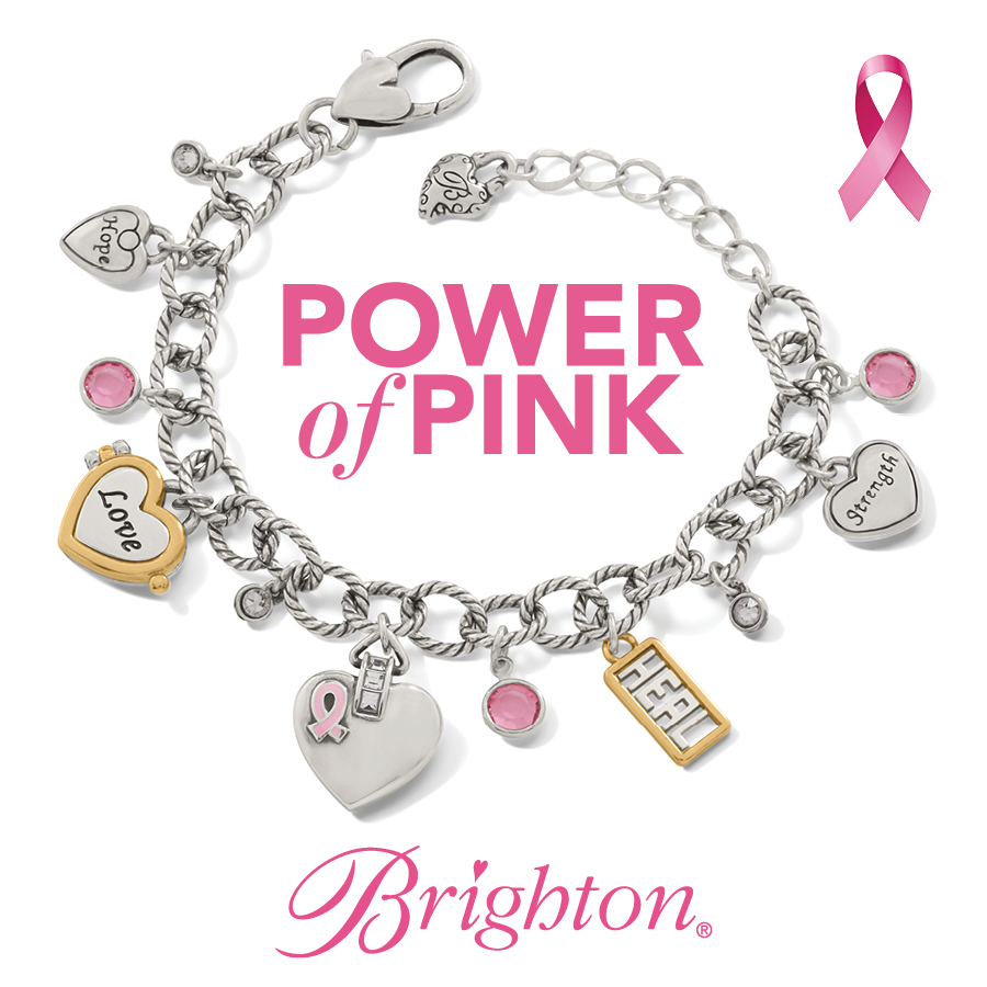 brighton charm bracelet breast cancer awareness