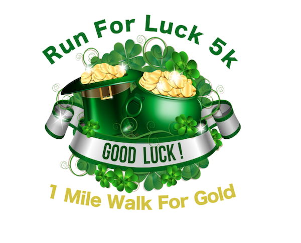 run for luck log with pot of gold