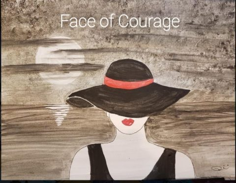 Faces of Courage painting for art series