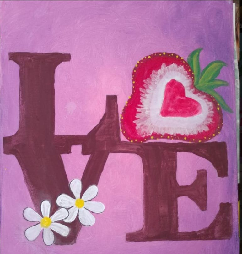 love lifts me image for faces of courage painting session