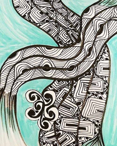 Faces of Courage offers zentangle class with miriam zimms