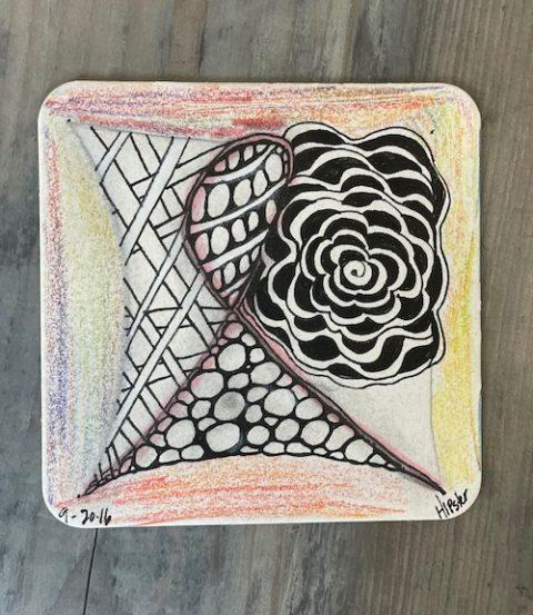 zentangle art for faces of courage enriching arts program
