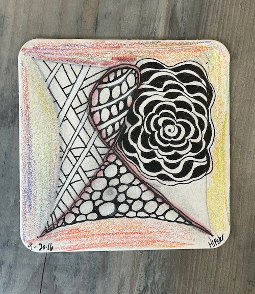 zentangle art for faces of courage enriching arts program