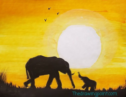 elephants painting for faces of courage enriching arts program