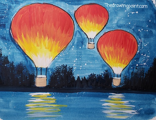 hot air balloons painting for faces of courage enriching arts program